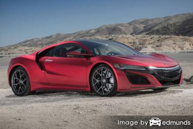 Insurance rates Acura NSX in San Jose