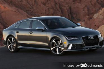 Insurance quote for Audi RS7 in San Jose
