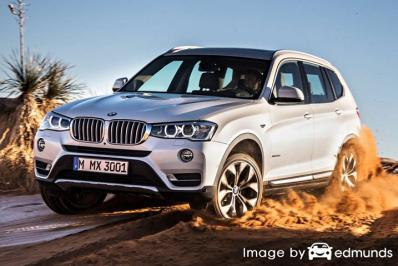 Insurance rates BMW X3 in San Jose