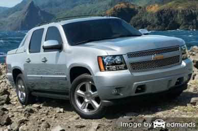 Insurance quote for Chevy Avalanche in San Jose