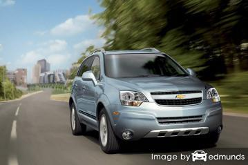 Insurance rates Chevy Captiva Sport in San Jose